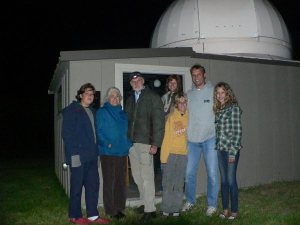 Visitors to the observatory