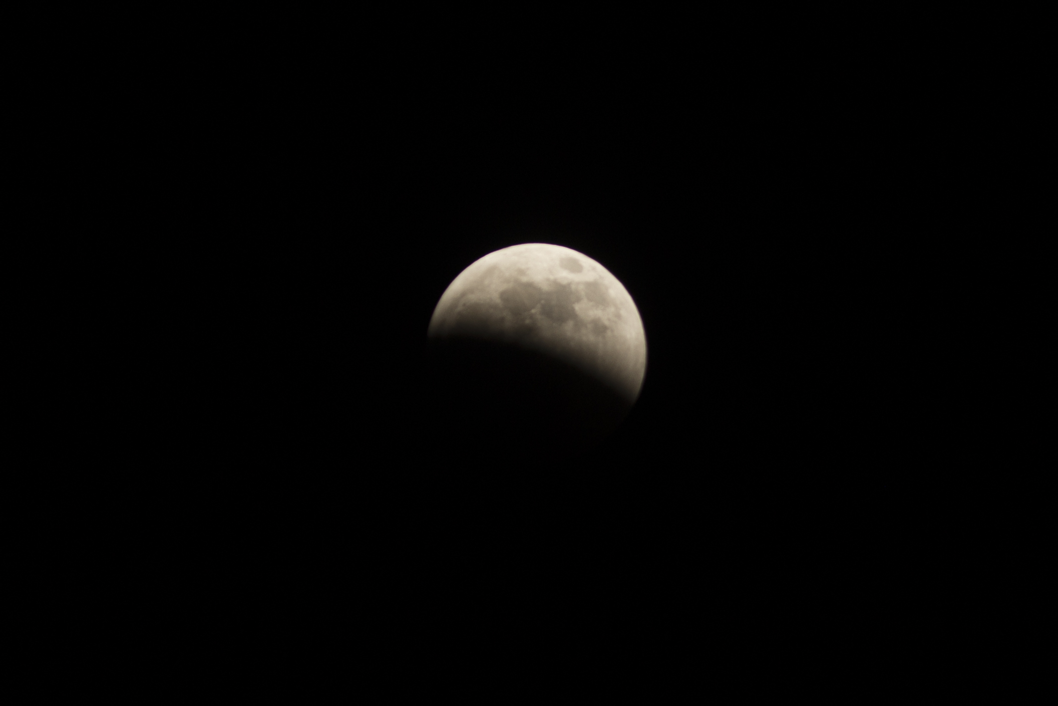 Partial lunar eclipse - midway